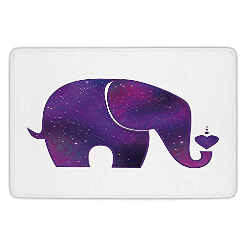 - Usicapwear Durability Doormat Bathroom Bath Rug Kitchen Floor Mat Carpet,Sunrise,Silhouette of Misty Twilight Sky with Tree and Nature Reflections Exotic Image,Black Rub 23.6 X 15.7 Inch