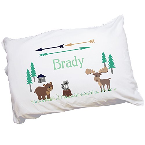 MyBambino Child's Personalized North Woodland Pillowcase ()