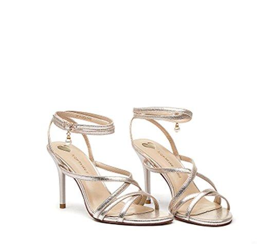 HETAO Persönlichkeit Damen Damen Mid Low High Heel Prom Strappy Crossover Sandalen Schuhe Größe Party Hochzeit Geschenk Des Mädchens 36