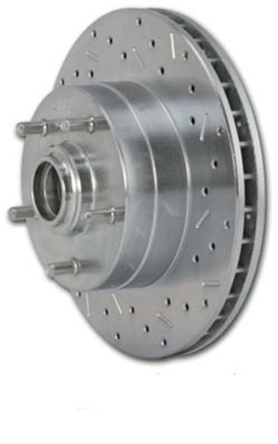 Stainless Steel Brakes 23162AA2L Big Bite Cross Drilled Rotors (Big Bite Cross)