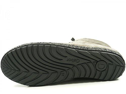 Gabor 56-435 Botines de cuero mujer Grau