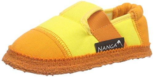 Nanga Mädchen Klette 06 Flache Hausschuhe Gelb (74)
