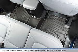 SMARTLINER Floor Mats Liner Cocoa For 2015-2018 Colorado//Canyon Crew Cab B3164