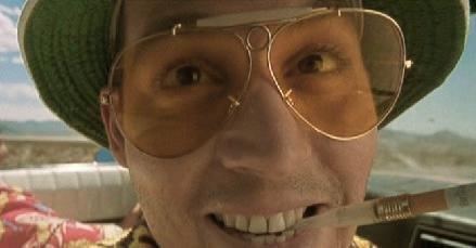 14f9d891fb Las Vegas Fear and Loathing Orange Lens Sunglasses Glasses Hunter S.  Thompson at Amazon Men s Clothing store