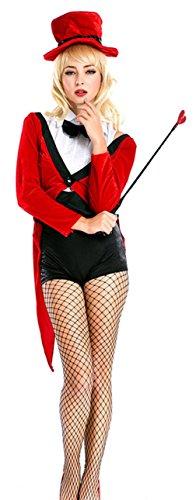 Biwinky Female Magician Halloween Costumes Circus Animal Trainer Costume (Circus Magician Costume)