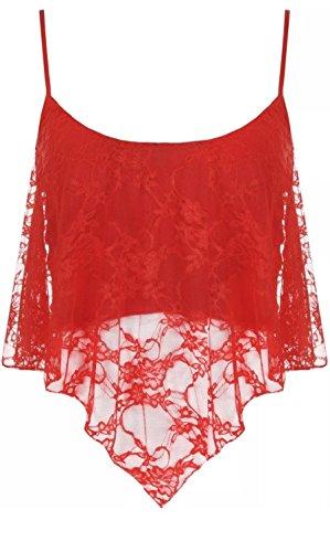 Freedom & Fashion - Camiseta sin mangas - para mujer Rosso