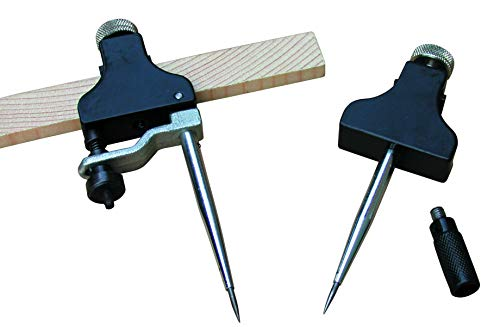 Trammel Points Heads Beam Compass with Hardened Points, Fine Adjustment and Pencil Holder TP