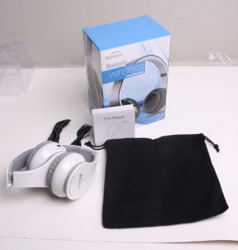 XMAS GIFT with Retail Package---New White Beyution 513@ Smart Wireless Bluetooth Headphone Headset---for Apple/Sony/SAMSUNG GALAXY/MICROSOFT/Amazon Kindle/Hipstreet/Lenovo/Nabi/Barnes & Noble Nook/Leapfrog/ HP/ Toshiba/ Blackberry/ D2/ Razer/ Vtech/ Kaser/ Zeki and all Tablet MID which have bluetooth function device.