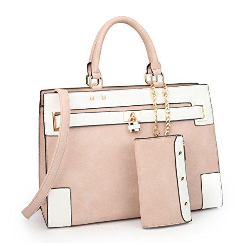MMK collection Fashion Handbag w Extra coin purse ~Women Satchel handbags(7045PK)