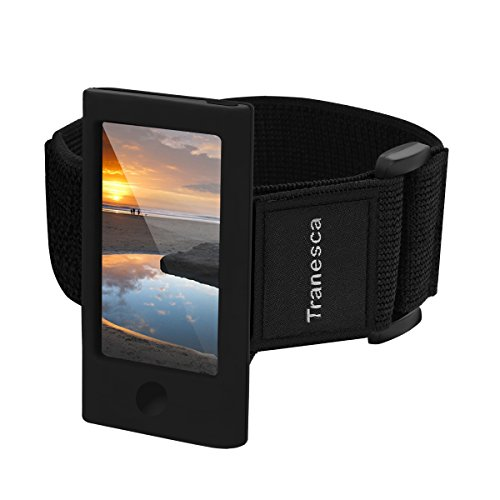 Ipod Waterproof Armband - Tranesca iPod Nano 7th & 8th Generation Armband with Tempered Glass Screen Protector -Black (Perfect for Workout)