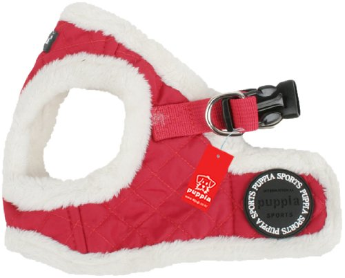 Puppia Authentic Diamond Harness B, Large, Red, My Pet Supplies