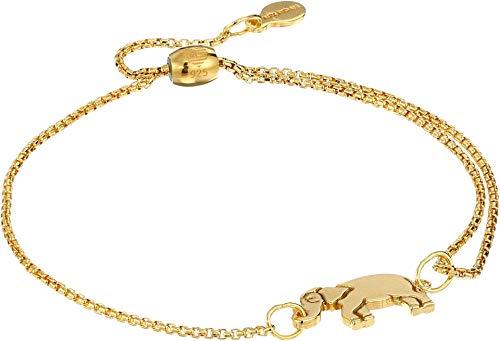 14kt Gold Elephant Bracelet - Alex and Ani Women's Elephant Pull Chain Bracelet - Precious Metal 14kt Gold Plated One Size