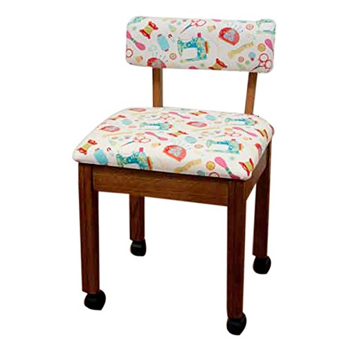 Arrow Sewing Cabinet Craft Room Furniture Wood Fabric Chair Oak White Background by Arrow Sewing (Arrow Oak Chair)