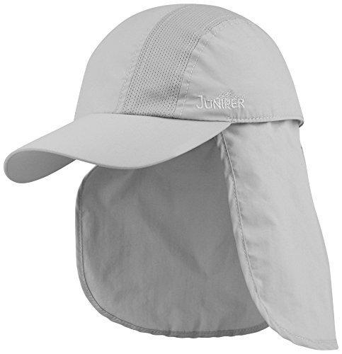 Juniper TASLON UV Cap with Detachable Flap, One Größe, Grau by Juniper