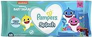 Lenços Umedecidos Pampers Splashers Baby Shark - 48 lenços