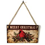 Happy Holidays Merry Christmas Wooden Quote Sign by Iuhan, Christmas Indoor and Outdoor Wood Hanging Door Decorations and Wall Signs Haunted House Decor for Home School Office (C)