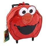 Sesame Street Elmo Head Shaped Mini Roller Backpack Childrens Toddler Preschooler Travel Bag