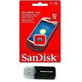 SanDisk 32GB MicroSD HC MicroSDHC Memory Card 32G (32 Gigabyte) for Motorola Moto E Moto G LTE Nokia Lumia Icon X X+ XL Lumia 930 635 630 530 X2 with Everything But Stromboli Reader