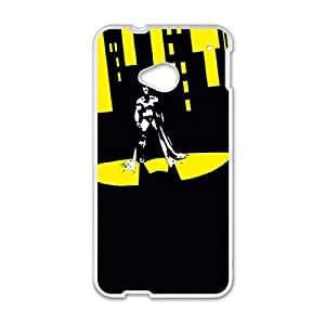 Batman Shadow In The City HTC One M7 Cell Phone Case White&Phone Accessory STC_968462