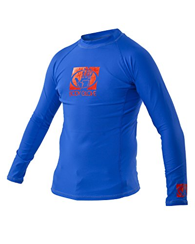 Body Glove Wetsuit Junior Basic Fitted Long Arm Rash Guard, Royal, 10