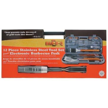 Uniflame 12 Piece Tool Set With Plastic Case & Thermo Fork [Set of 4] by Uniflame