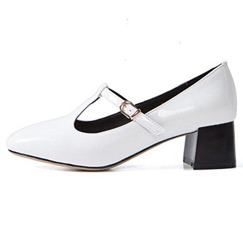 KemeKiss White T bar Women Pumps 1n1TfwR7q
