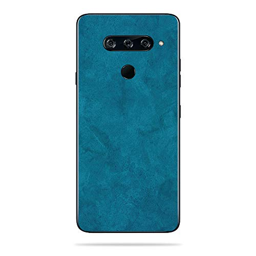MightySkins Skin Compatible with LG V40 ThinQ - Blue Strokes | Protective, Durable, and Unique Vinyl Decal wrap Cover | Easy to Apply, Remove, and Change Styles | Made in The USA