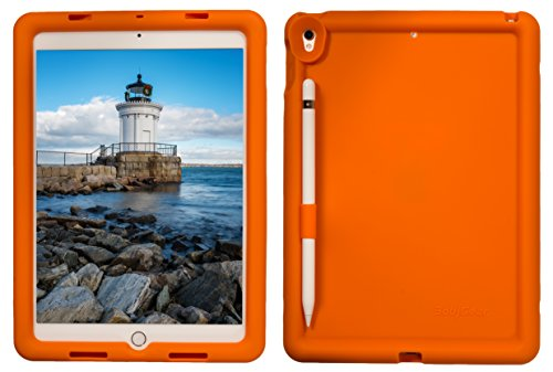 Bobj Rugged Case for iPad Pro 10.5 (2017) and iPad Air 10.5 (2019) - BobjGear Custom Fit - Patented Venting - Sound Amplification - BobjBounces Kid Friendly (Outrageous Orange)