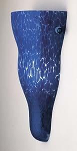 PLC Lighting 4010 BLUE 2-Light Wall Sconce Vega-I Italian Collection, Cobalt Blue Handblown Glass