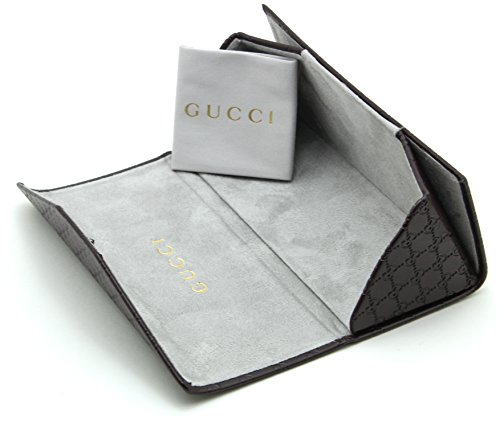 low priced e7c33 ee2ff Gucci Tri-fold Leather Glasses Sunglasses Case w/Cleaning Cloth ...