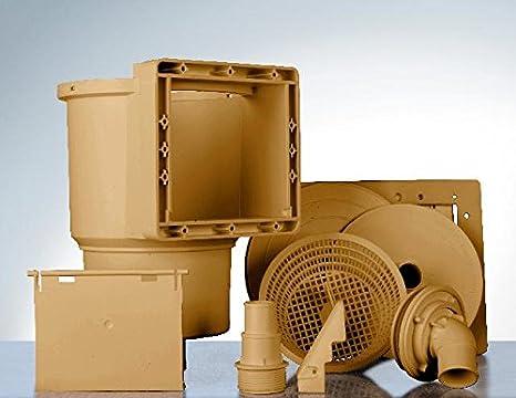 Gre AR100W - Skimmer para Piscina Estándar + Válvula de Impulsión, Color Marrón: Amazon.es: Jardín