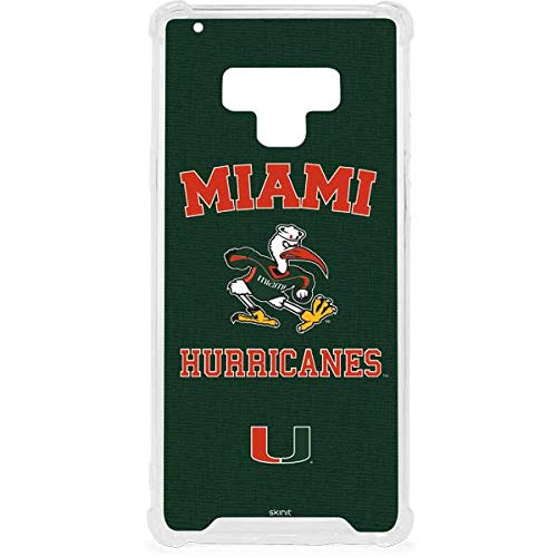 Skinit Miami Hurricanes Distressed Galaxy Note 9 Clear Case - Skinit Clear Case - Transparent Galaxy Note 9 Cover