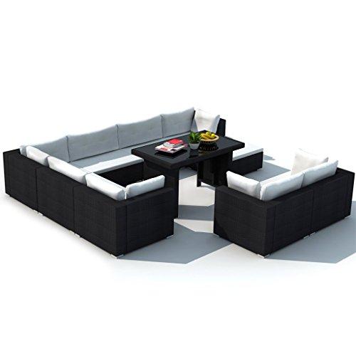 Vidaxl set 28 pz mobili da esterno salone giardino in for Mobili da giardino online