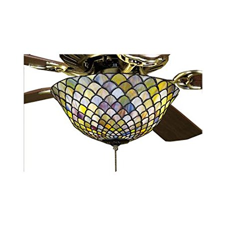 Meyda Tiffany 27451 Fishscale Fan Light Fixture, 12