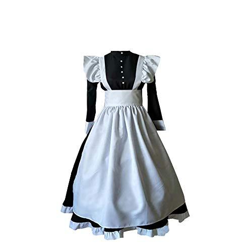 Edwardian Maids Costumes - Women Edwardian Victorian Maid Dress Pilgrim