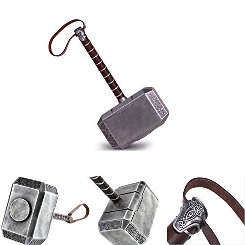 (Mastergoswords 2019 Avengers Thor Mjolnir Resin Hammer Collectible 1:1 Replica Cosplay Costume Prop Toy (Without Standing Base))