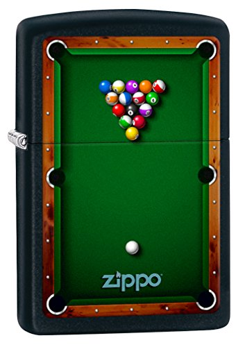 Zippo Lighter: Pool Table - Black Matte 78201 ()