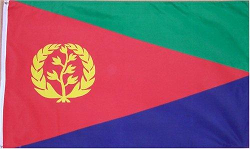 Eritrea National Country Flag - 3 foot by 5 foot Polyester (New) (Eritrea Flag)