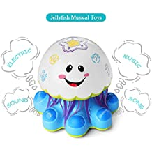 Electronic Baby Activity Jellyfish Dancing Musical Toys Toddlers Boys Girls, Ages 1 to 5 Years Old | Learning Toy Plays Music, Sounds Songs | Color Changing Lights, Rolling Wheel