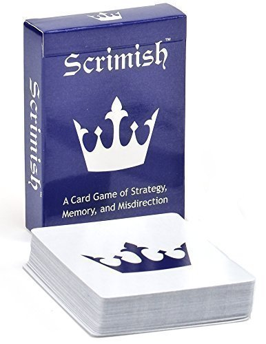Scrimish Strategy Card Game – Easy to Learn Portable Game for all Ages. 2 Players. (Blue/Red 1 Pack)