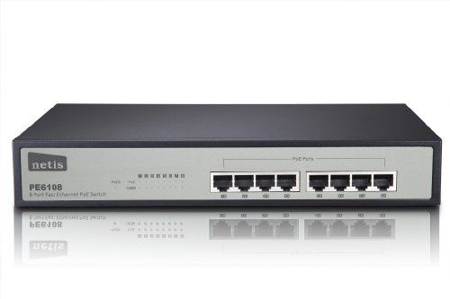 Netis PE6108 8-Port Ethernet Switch with 8 PoE Port, 15.4W per port, Total PoE Budget 124W IEEE802.3af by Netis