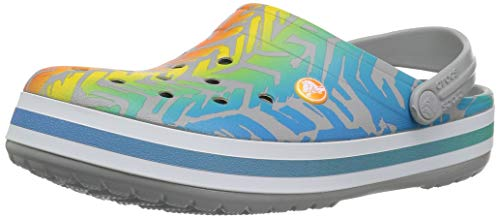 Crocs Crocband Graphic III Clog Adults, Multi/Light Grey, 6 US Men/ 8 US Women M US
