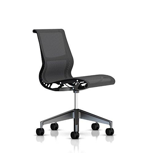 Herman Miller Setu Chair: Armless - Standard Carpet Casters