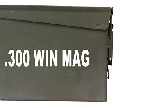 FGD 300 WIN MAG Ammo Box Decal Sticker Label Set Two 8