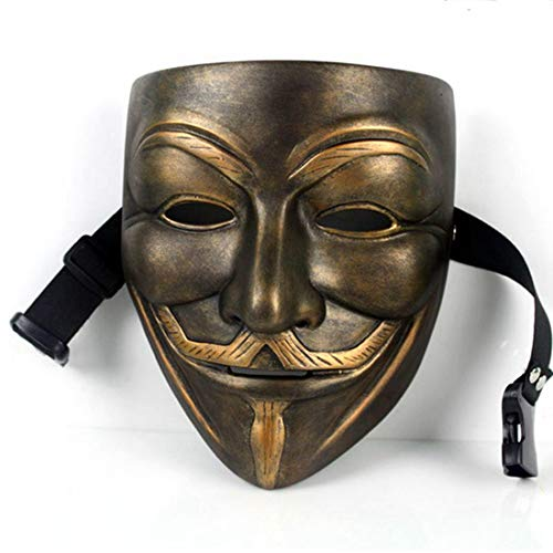 V for Vendetta Mask Anonymous Movie Guy Fawkes Halloween Masquerade Party Face March Protest Costume Accessory -