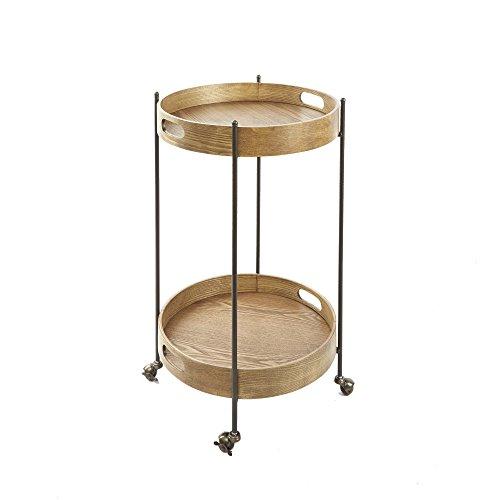 SilverwoodMiles 2-Tier Round Bar Cart]()
