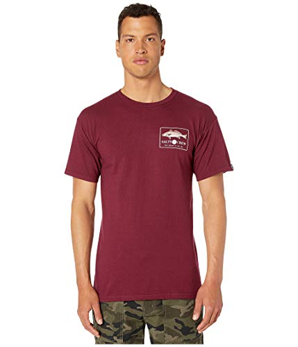 (Salty Crew Men's Spot Tail Short Sleeve Tee Burgundy Large)