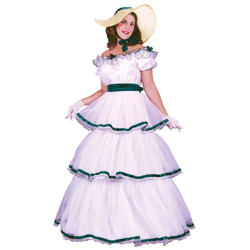 Fun World Women's Southern Belle Costume, Multi, Standard -
