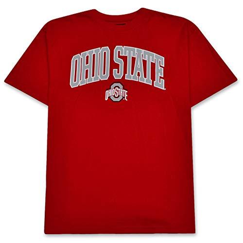Ohio State Buckeyes Mens Logo Short Sleeve Tee Shirt 100% Cotton Apparel RED XLT