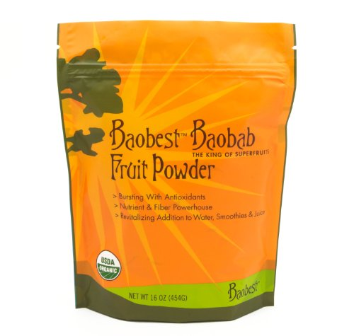 Baobest Baobab Fruit Powder, 16 Ounce (Synergy Drink With Chia)